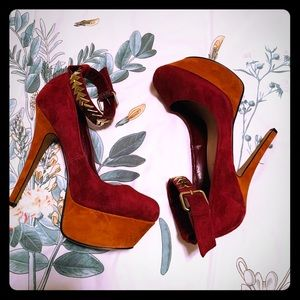 H by Halston Platform Ankle Strap Heel